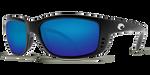 Costa Del Mar Zane Polarized Sunglasses in Black with Blue Mirror 580P Lens