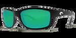 Costa Del Mar Zane Polarized Sunglasses in Black with Green Mirror 580G Lens