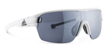 Adidas Designer Sunglasses Zonyk Aero Matte White with Chrome Lens