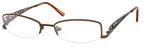 Dale Earnhardt, Jr Designer Eyeglasses 6706 in Brown Metal Frames -51mm Custom Lens