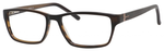 Esquire Designer Eyeglasses EQ1501 in Brown/Black-55mm Blue Light Filter + A/R Lenses