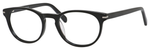 Esquire Designer Unisex Oval Frame Eyeglasses EQ1510 in Shiny Black-50 mm RX SV