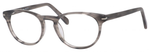 Esquire Designer Unisex Oval Frame Eyeglasses EQ1510 in Grey Amber-50 mm RX SV