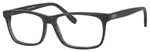 Esquire EQ1535 Men's Rectangular Frame Eyeglasses Black Stripe 55 mm
