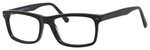 Esquire Designer Mens EQ1548 Reading Eyeglasses in Shiny Black 55 mm Custom Lens