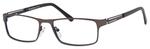 Esquire Mens EQ1551 Metal Frame Reading Eyeglasses in Gunmetal 54mm Custom Lens