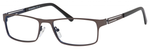 Esquire Mens EQ1551 Metal Frame Reading Eyeglasses in Gunmetal 54mm