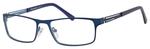Esquire Mens EQ1551 Metal Frame Reading Eyeglasses in Navy 54mm Custom Lens