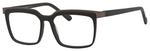 Esquire Mens EQ1553 Square Frame Eyeglasses in Black/Gunmetal 53mm Custom Lens