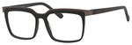 Esquire Mens EQ1553 Square Frame Eyeglasses in Black/Gunmetal 53mm Progressive