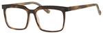 Esquire Mens EQ1553 Square Frame Eyeglasses in Tortoise/Black 53mm Custom Lens