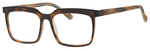 Esquire Mens EQ1553 Square Frame Eyeglasses in Tortoise/Black 53mm Progressive