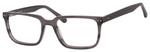 Esquire Men's EQ1557 Rectangular Frame Eyeglasses in Black/Grey 53mm Custom Lens