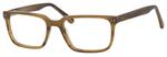 Esquire Mens EQ1557 RectangularFrame Reading Eyeglasses in Birch Brown 53mm Progressive