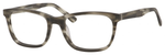 Esquire Mens EQ1558 Oval Frame Reading Eyeglasses in Matte Grey 54mm Custom Lens
