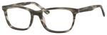 Esquire Mens EQ1558 Oval Frame Reading Eyeglasses in Matte Grey 54mm Bi-Focal