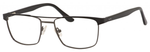Esquire EQ1565 Mens Rectangle Metal Eyeglasses in Black/Gunmetal 53 mm Custom Lens