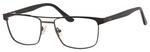 Esquire EQ1565 Mens Rectangle Metal Eyeglasses in Black/Gunmetal 53 mm RX SV