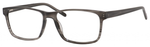 Esquire EQ1566 Men's Rectangle Frame Eyeglasses in Grey Amber 57 mm