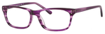 Ernest Hemingway H4684 Unisex Oval Reading Eyeglasses Purple 53 mm Custom Lens