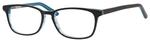 Ernest Hemingway H4688 Unisex Oval Eyeglasses in Black/Blue 53 mm Custom Lens