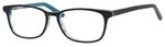 Ernest Hemingway H4688 Unisex Oval Reading  Eyeglasses in Black/Blue 53 mm