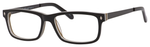 Ernest Hemingway H4690 Unisex Rectangular Eyeglasses in Shiny Black 54 mm Custom Lens