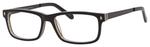 Ernest Hemingway H4690 Unisex Rectangular Eyeglasses in Shiny Black 54 mm