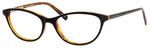 Ernest Hemingway H4667 Womens Cat Eye Frame Eyeglasses in Black/Tortoise 54 mm Custom Lens