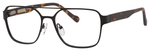 Ernest Hemingway H4814 Unisex Square Metal Frame Eyeglasses in Black 53 mm Progressive