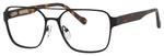 Ernest Hemingway H4814 Unisex Square Metal Frame Eyeglasses in Black 53 mm
