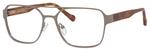 Ernest Hemingway H4814 Unisex Square Frame Eyeglasses in Matte Gunmetal 53 mm Custom Lens