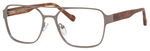 Ernest Hemingway H4814 Unisex Square Frame Eyeglasses in Matte Gunmetal 53 mm Bi-Focal