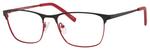 Ernest Hemingway H4818 Unisex Oval Frame Eyeglasses in Black/Red 54 mm Progressive