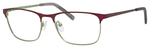 Ernest Hemingway H4818 Unisex Oval Eyeglasses in Burgundy/Lime 54 mm