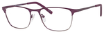 Ernest Hemingway H4818 Unisex Oval Eyeglasses in Purple/Gunmetal 54 mm