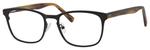 Ernest Hemingway H4820 Unisex Oval Frame Eyeglasses in Satin Black 52 mm Progressive