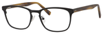 Ernest Hemingway H4820 Unisex Oval Frame Eyeglasses in Satin Black 52 mm Bi-Focal
