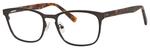 Ernest Hemingway H4820 Unisex Oval Frame Eyeglasses in Satin Gunmetal 52 mm Progressive