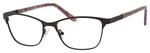 Ernest Hemingway H4822 Womens Rectangular Frame Eyeglasses in Black 52 mm Bi-Focal
