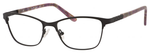Ernest Hemingway H4822 Womens Rectangular Frame Eyeglasses in Black 52 mm
