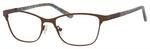 Ernest Hemingway H4822 Womens Rectangular Frame Eyeglasses in Brown 52 mm Custom Lens