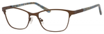 Ernest Hemingway H4822 Womens Rectangular Frame Eyeglasses in Brown 52 mm RX SV