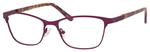 Ernest Hemingway H4822 Womens Rectangular Frame Eyeglasses in Purple 52 mm Custom Lens