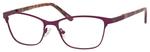 Ernest Hemingway H4822 Womens Rectangular Frame Eyeglasses in Purple 52 mm Bi-Focal