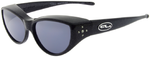 Jonathan Paul® MEDIUM Fitovers Jeweled Kitten Onyx Twilight Black w/Polarized Grey Lens