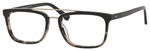 Ernest Hemingway H4825 Unisex Rectangular Frame Eyeglasses in Black/Amber 54 mm Custom Lens
