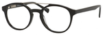 Ernest Hemingway H4826 Unisex Round Frame Eyeglasses in Shiny Black 50 mm Custom Lens