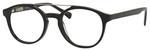 Ernest Hemingway H4826 Unisex Round Frame Reading Eyeglasses in Shiny Black 50 mm