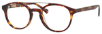 Ernest Hemingway H4826 Unisex Round Frame Reading Eyeglasses in Shiny Tortoise 50 mm